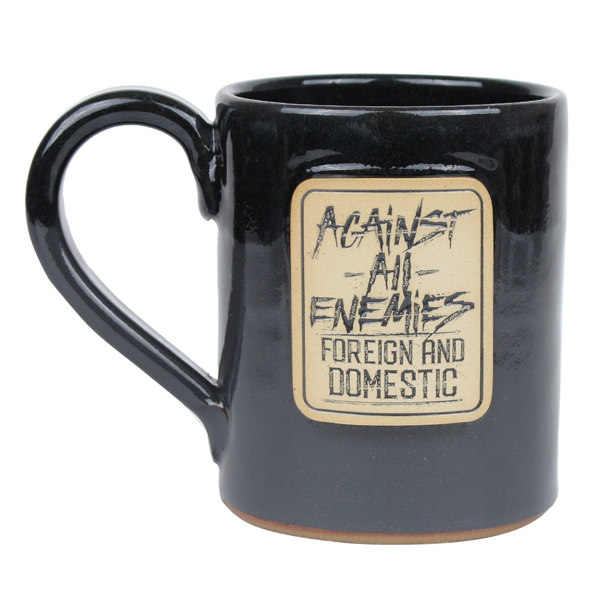 Against All Enemies - 14oz Coffee Mug - Black - Coffee Mug - Pipe Hitters Union
