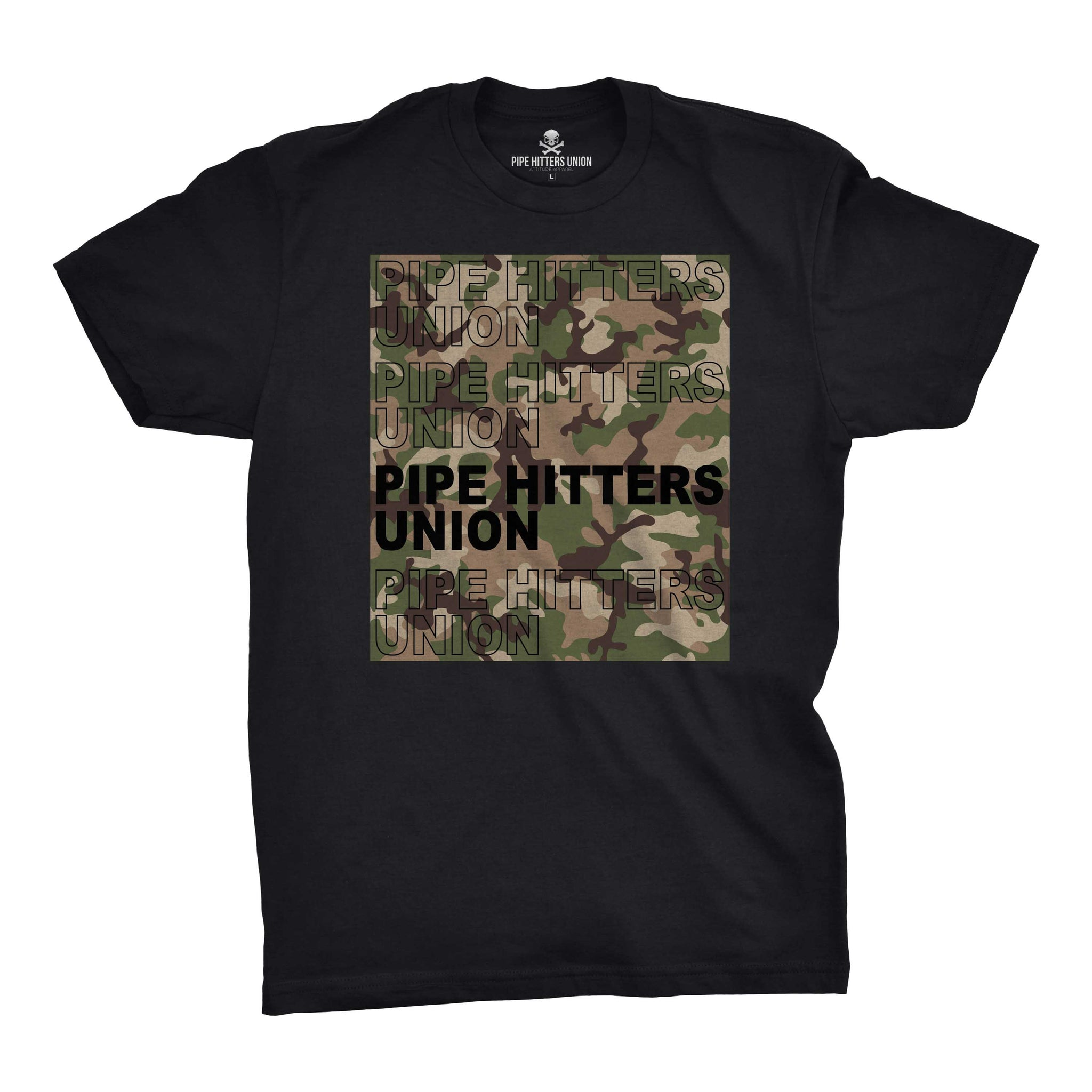 Pipe Hitter Pattern Analysis - Black/Green Multicam - T-Shirts - Pipe Hitters Union