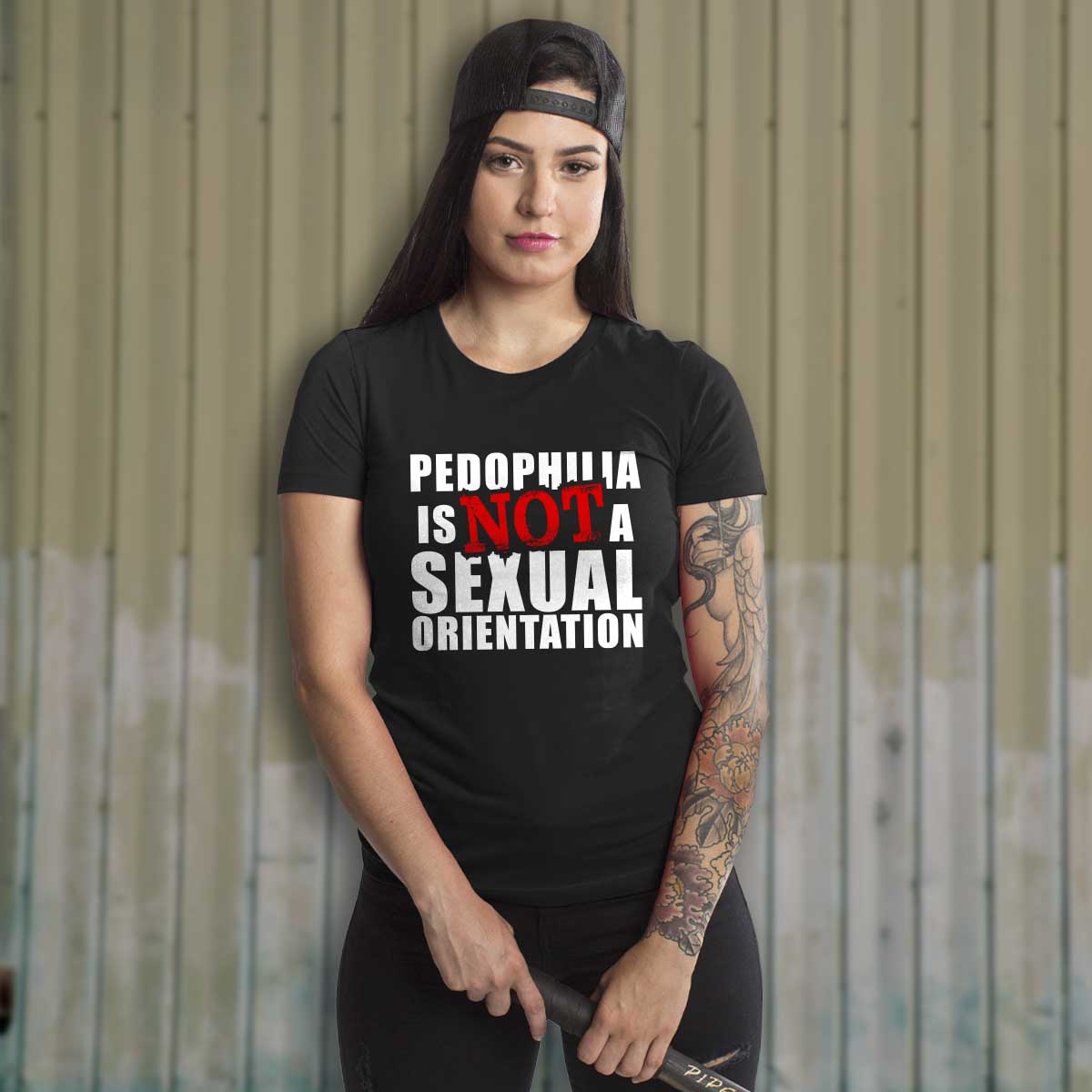 Pedophilia is NOT a sexual orientation - Crew - Black - T-Shirts - Pipe Hitters Union