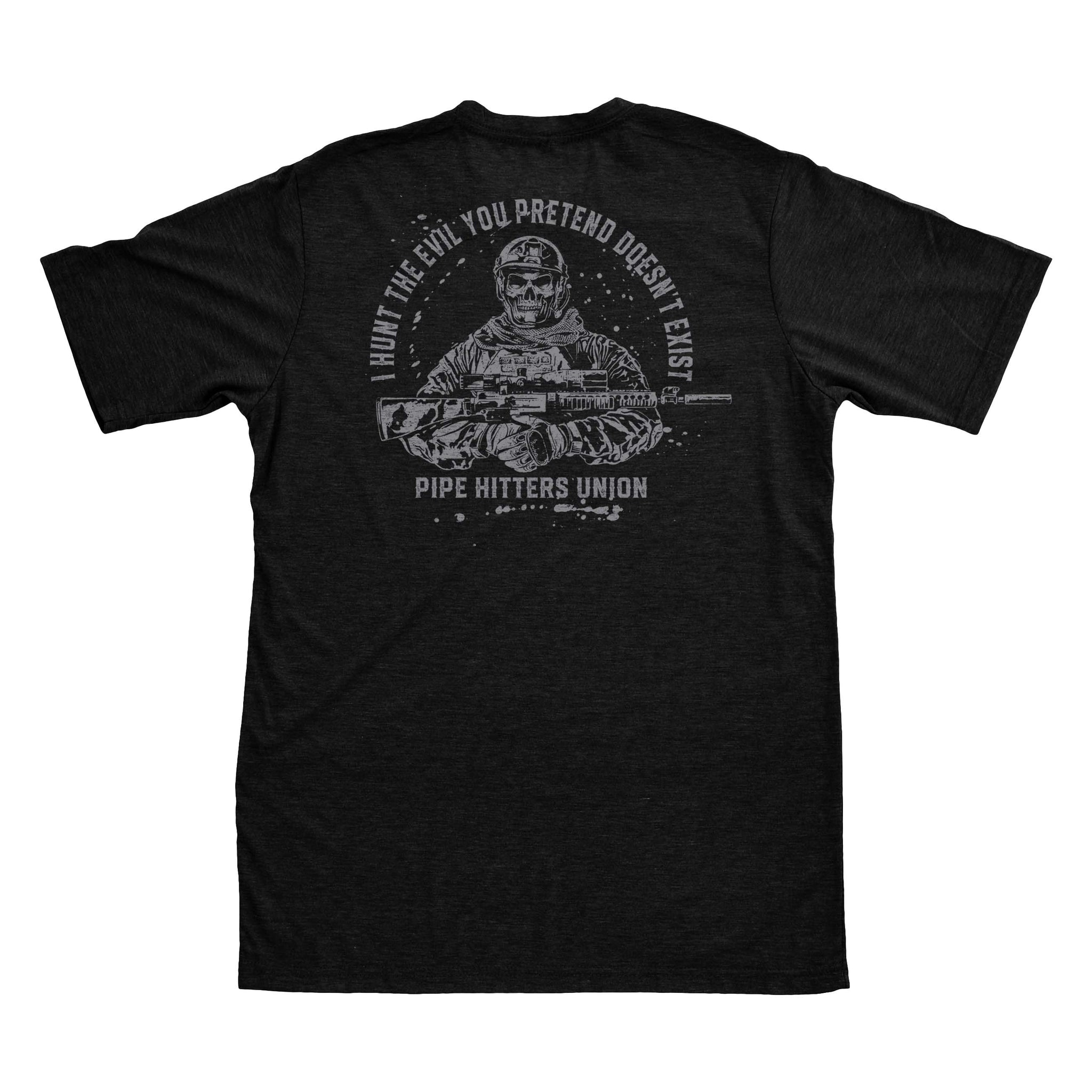 Hunt Evil - Black/Grey - T-Shirts - Pipe Hitters Union