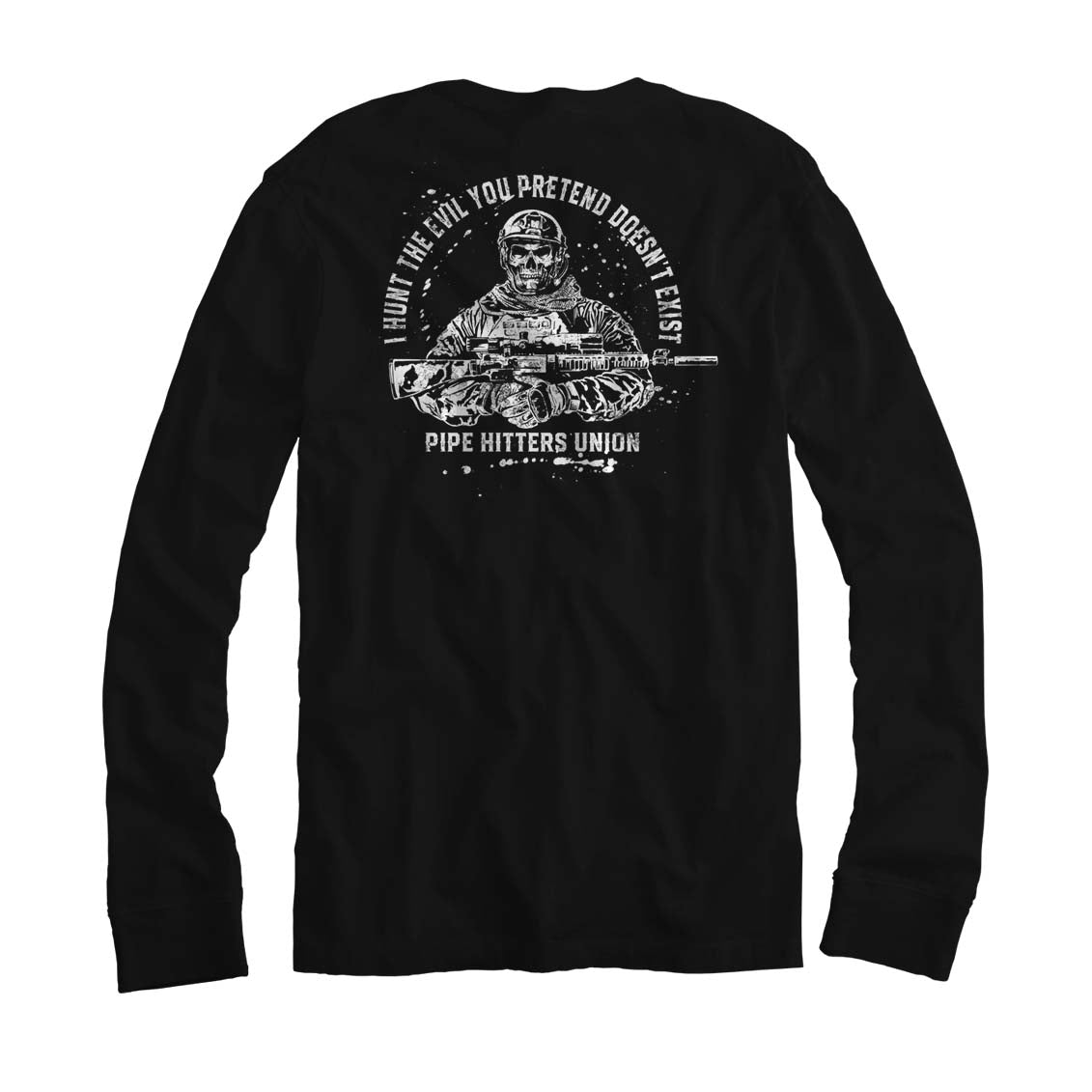 Hunt Evil - Long Sleeve - Black/White - T-Shirts - Pipe Hitters Union