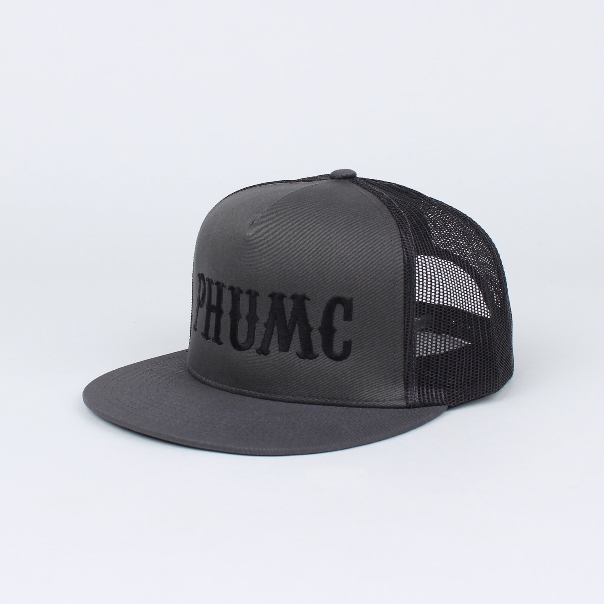 PHUMC CTR Linear Flat Bill Snapback (Grey) - Grey/Black - Hats - Pipe Hitters Union