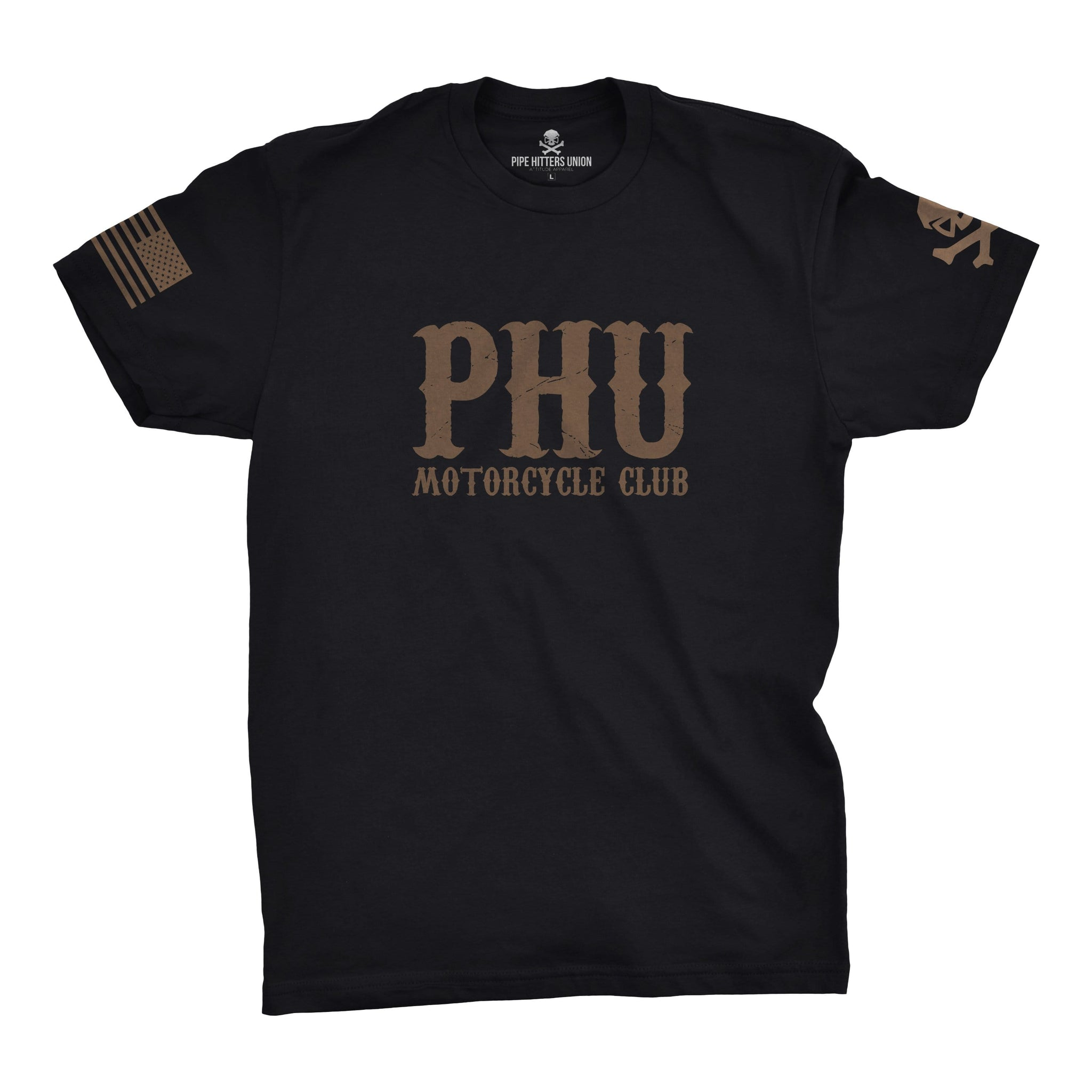 PHUMC Tee - Stacked - Black - T-Shirts - Pipe Hitters Union