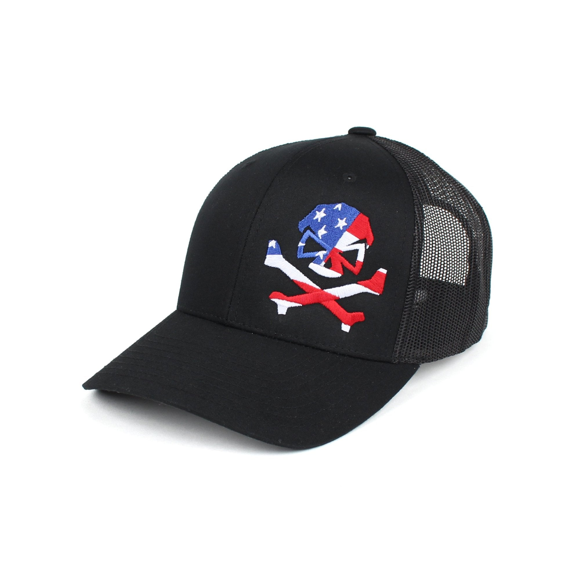 Patriot Trucker - Black - Hats - Pipe Hitters Union