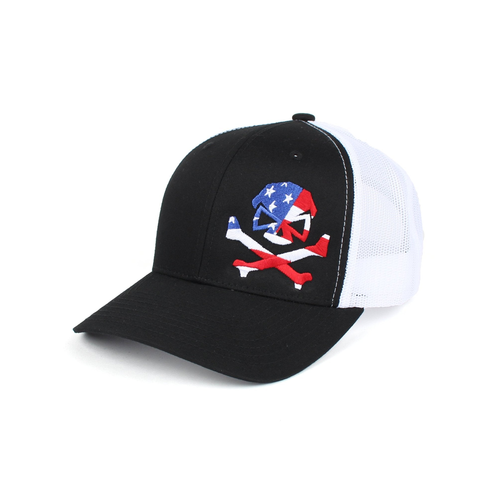 Patriot Trucker - Black/White - Hats - Pipe Hitters Union