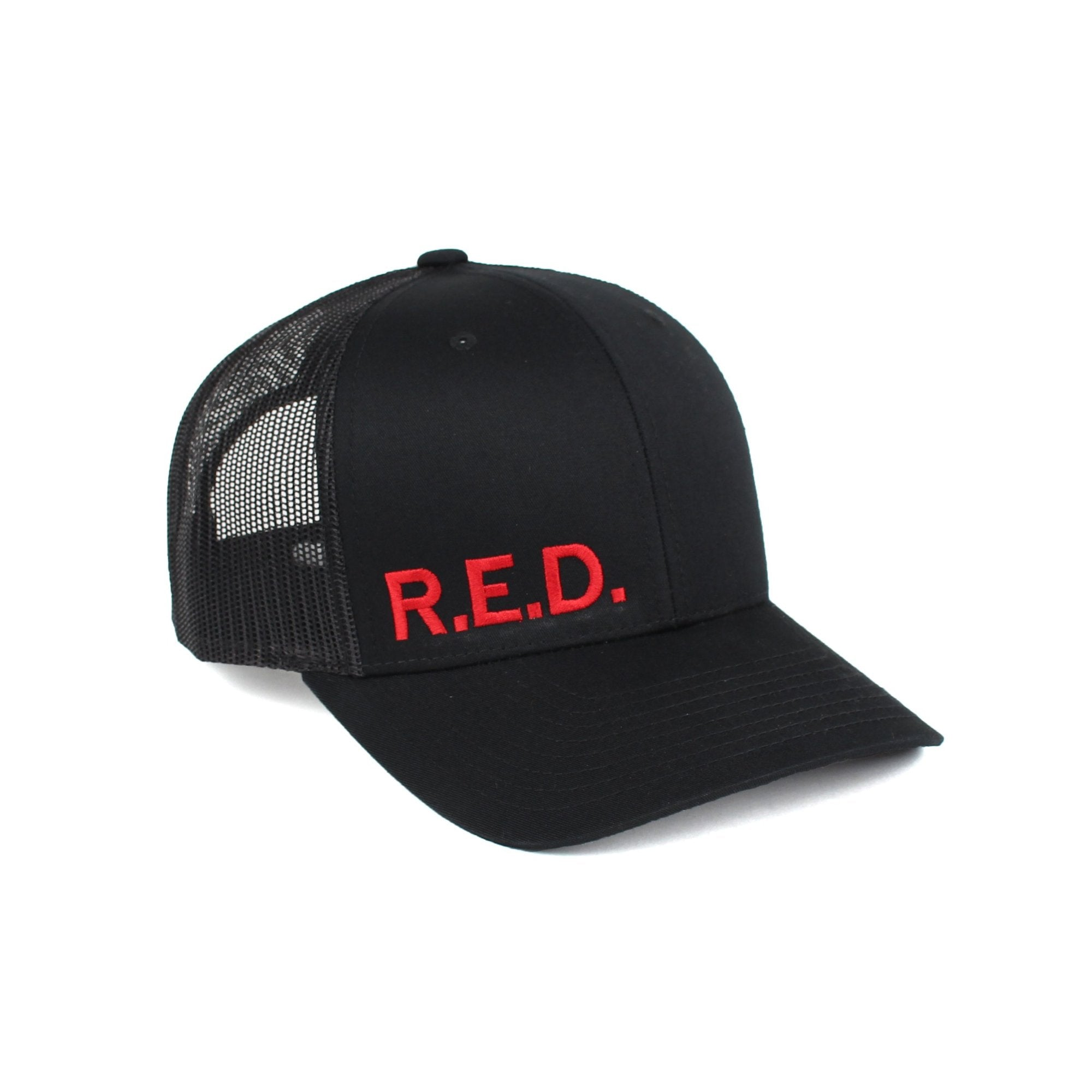 R.E.D. Trucker - Black/Red - Hats - Pipe Hitters Union