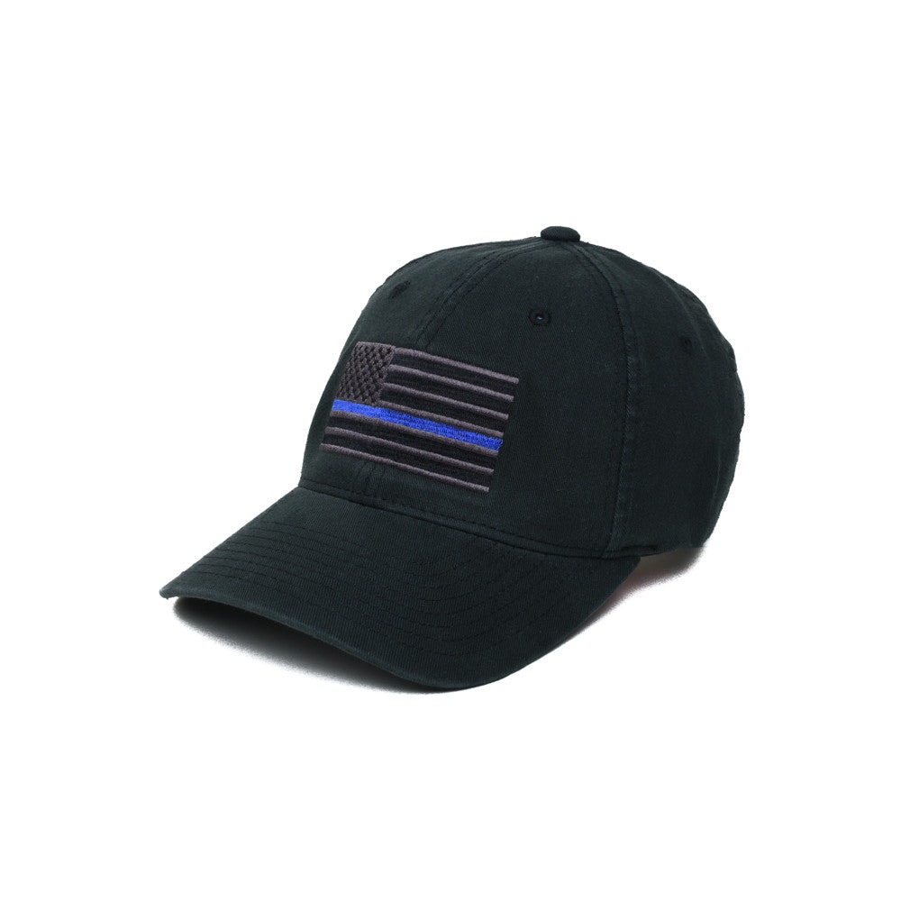 Thin Blue Line American Flag - S/M - Hats - Pipe Hitters Union
