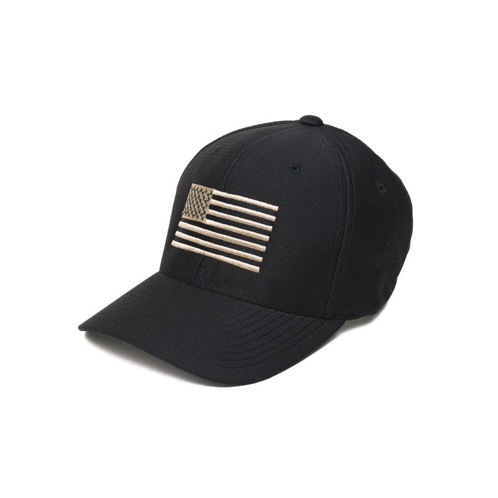 American Flag - Moisture Wicking - Black/Pewter - Hats - Pipe Hitters Union