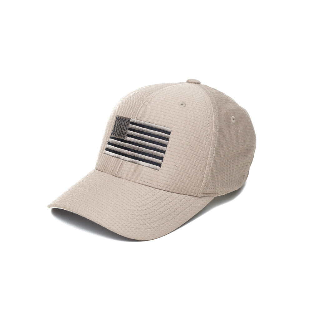 American Flag - Moisture Wicking - Khaki - Hats - Pipe Hitters Union