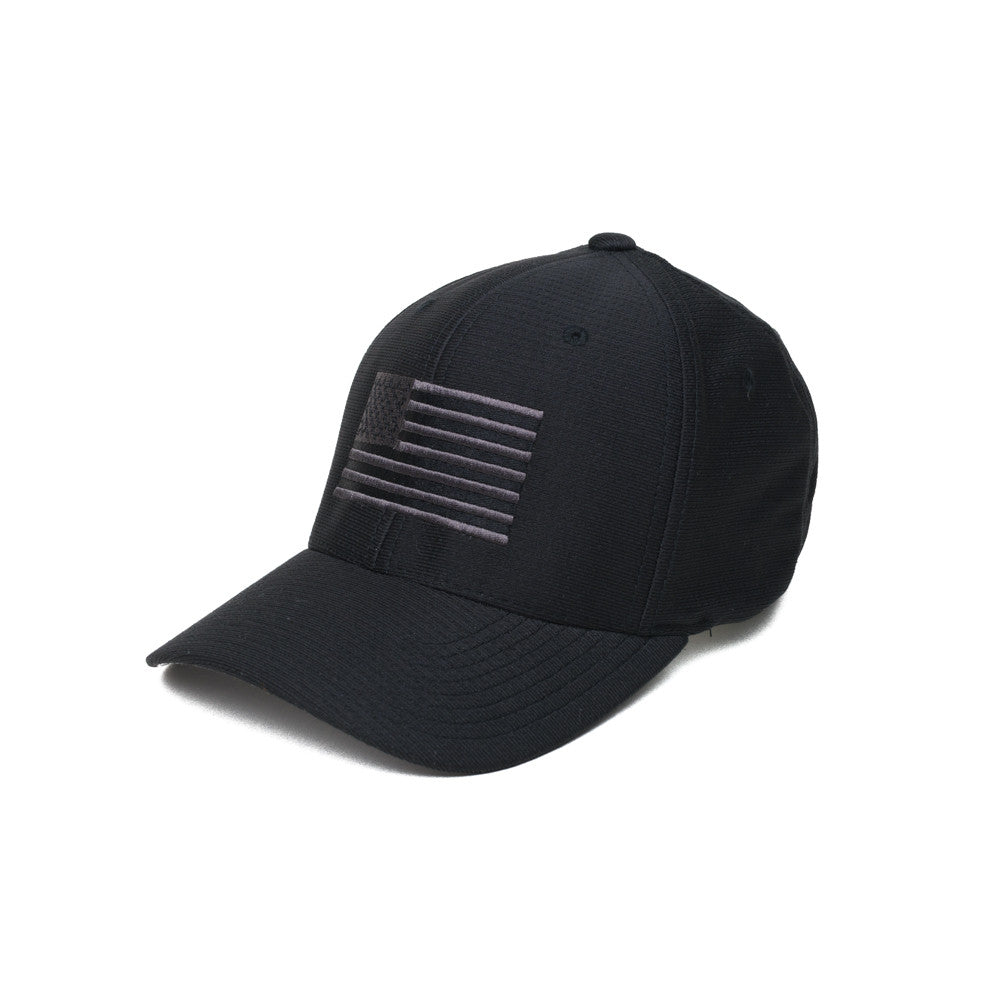 American Flag - Moisture Wicking - Black/Gray - Hats - Pipe Hitters Union