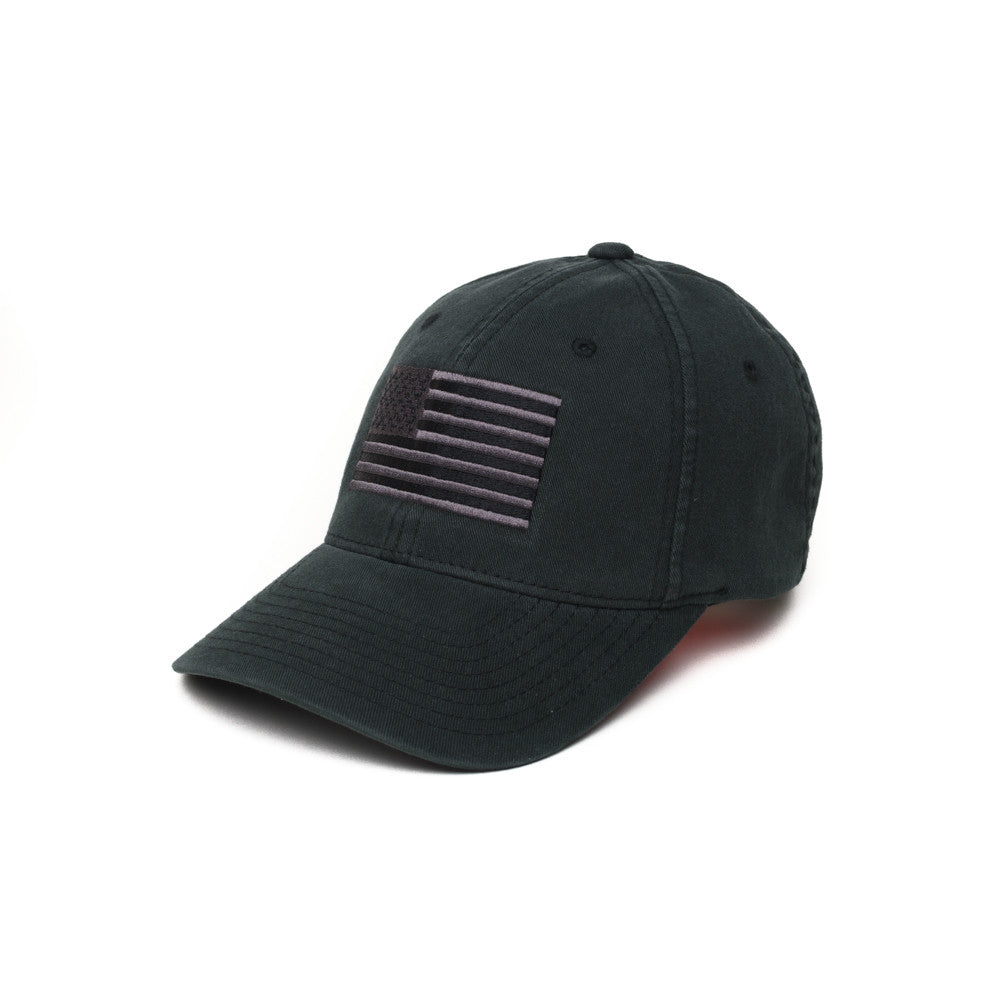 Pipe Hitters Union Subdued Black American Flag Flexfit Hat da4fb117900