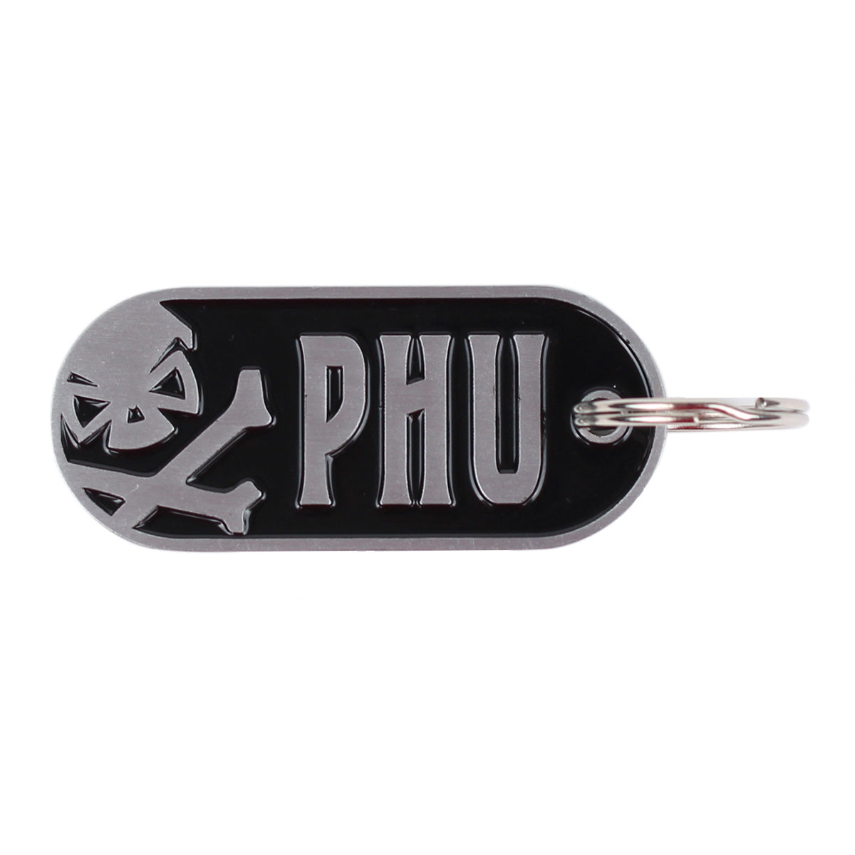 PHU Logo Keychain - Stainless - Challenge Coin - Pipe Hitters Union