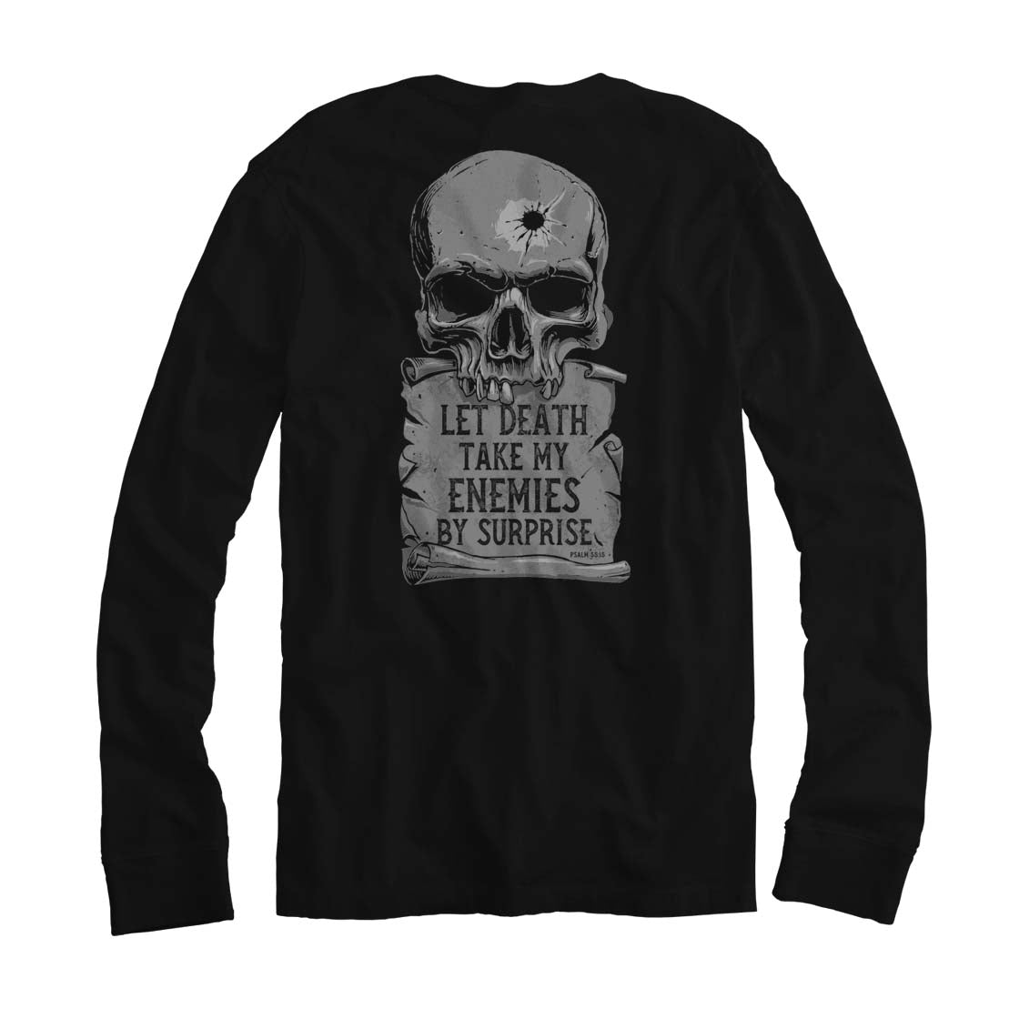 Psalm 55:15 - Long Sleeve - Black - T-Shirts - Pipe Hitters Union