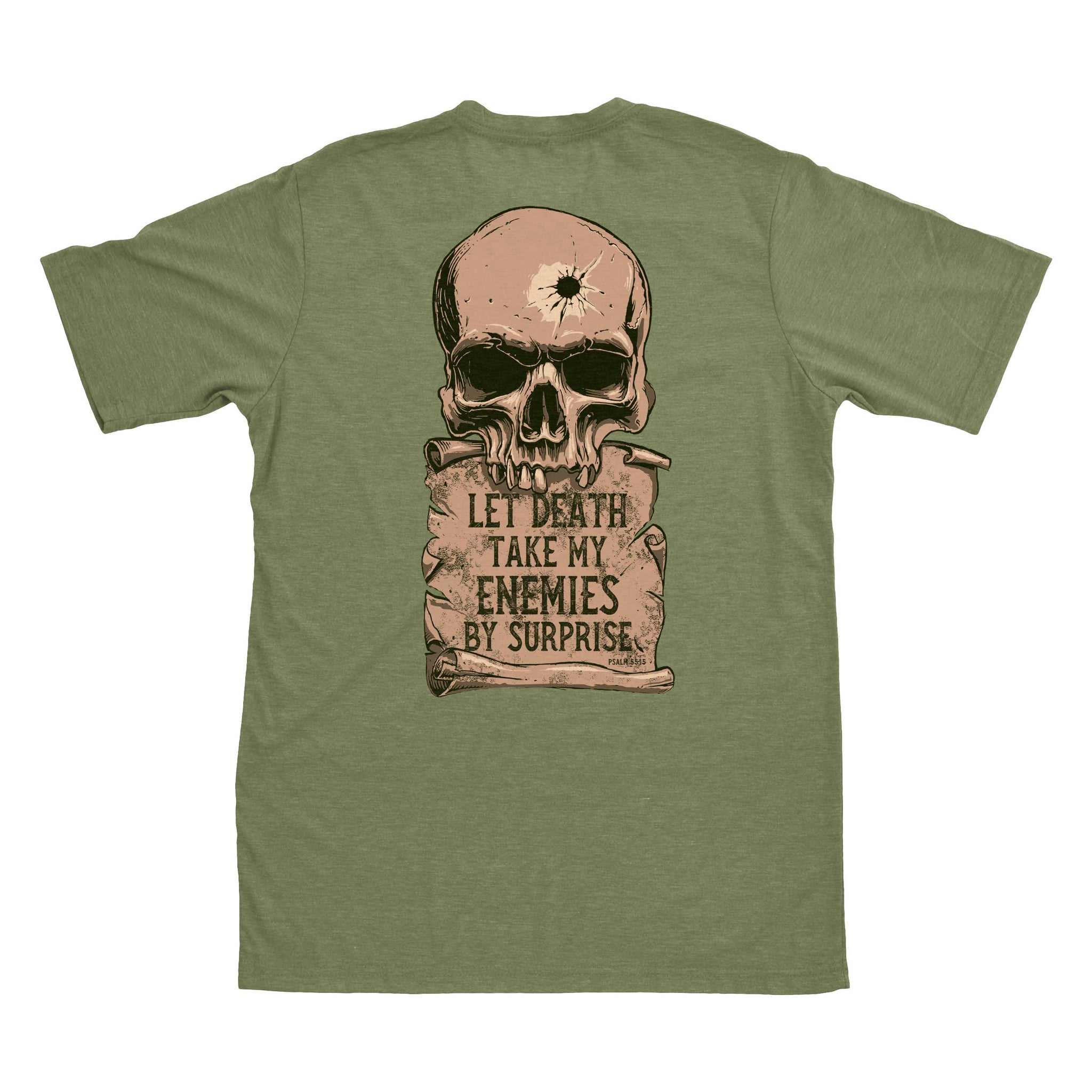 Psalm 55:15 - Military Green - T-Shirts - Pipe Hitters Union