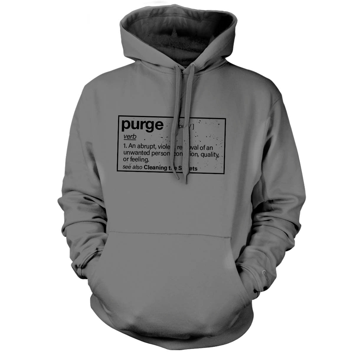 Purge (Definition) - Hoodie - Grey - T-Shirts - Pipe Hitters Union