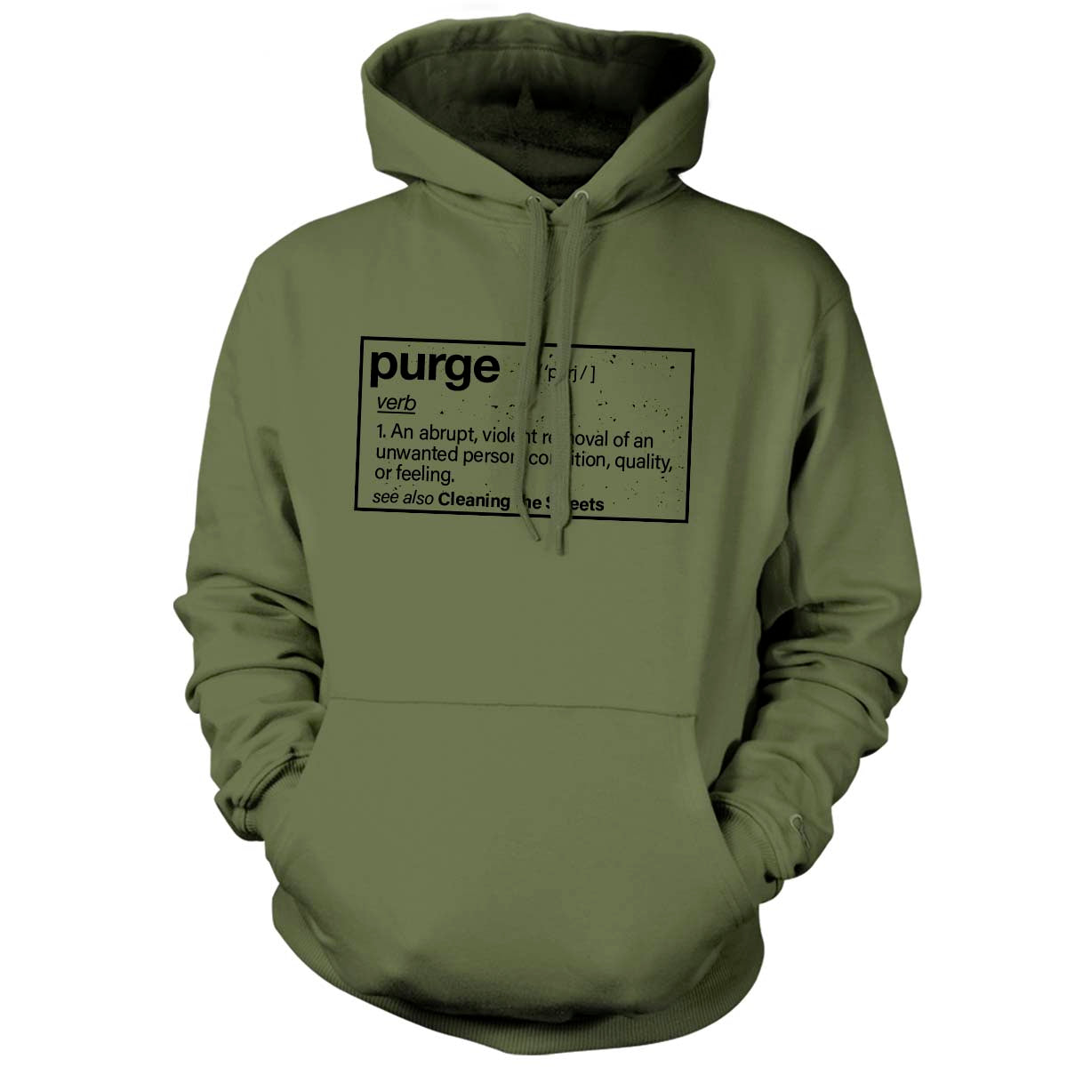 Purge (Definition) - Hoodie - Military Green - T-Shirts - Pipe Hitters Union