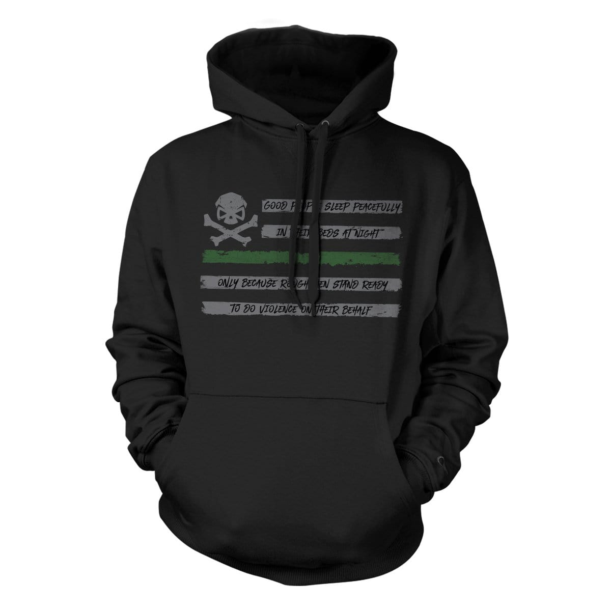 People Sleep - Flag Hoodie - Black/Green - Hoodies - Pipe Hitters Union