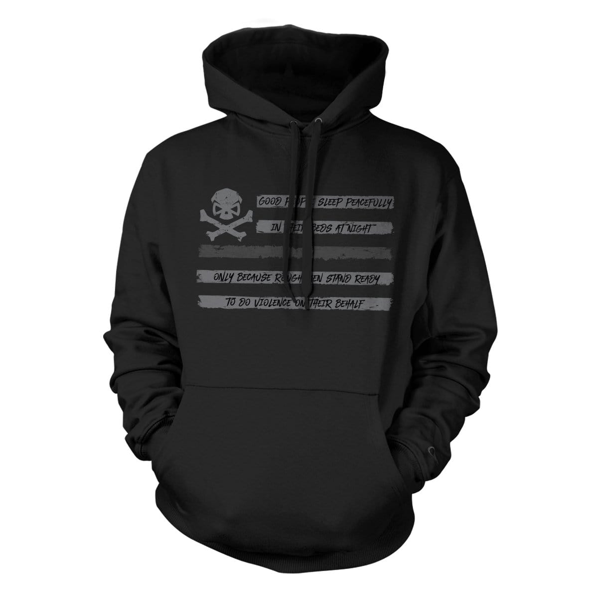 People Sleep - Flag Hoodie - Black/Gray - Hoodies - Pipe Hitters Union