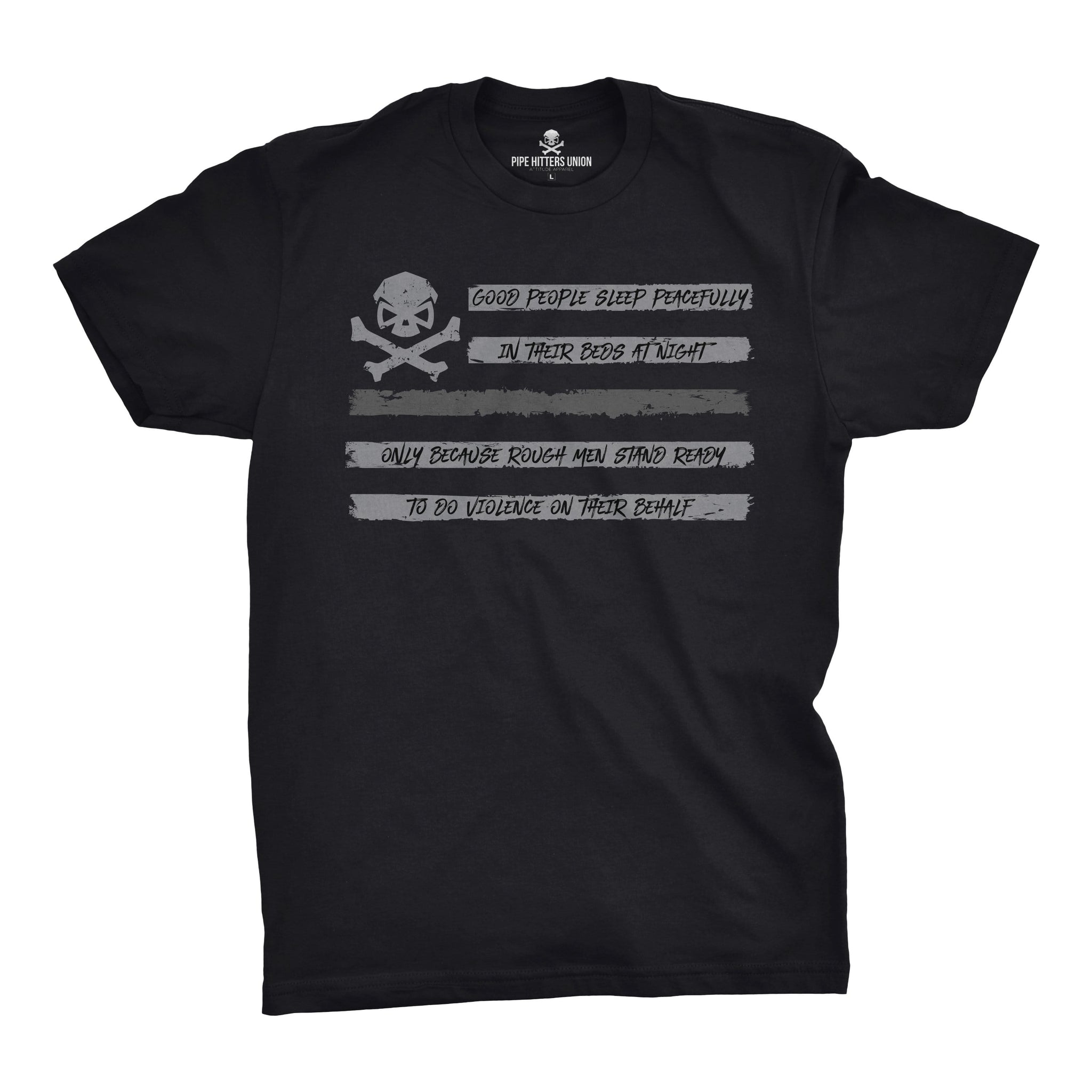 People Sleep - Flag (Subdued) - Medium - T-Shirts - Pipe Hitters Union