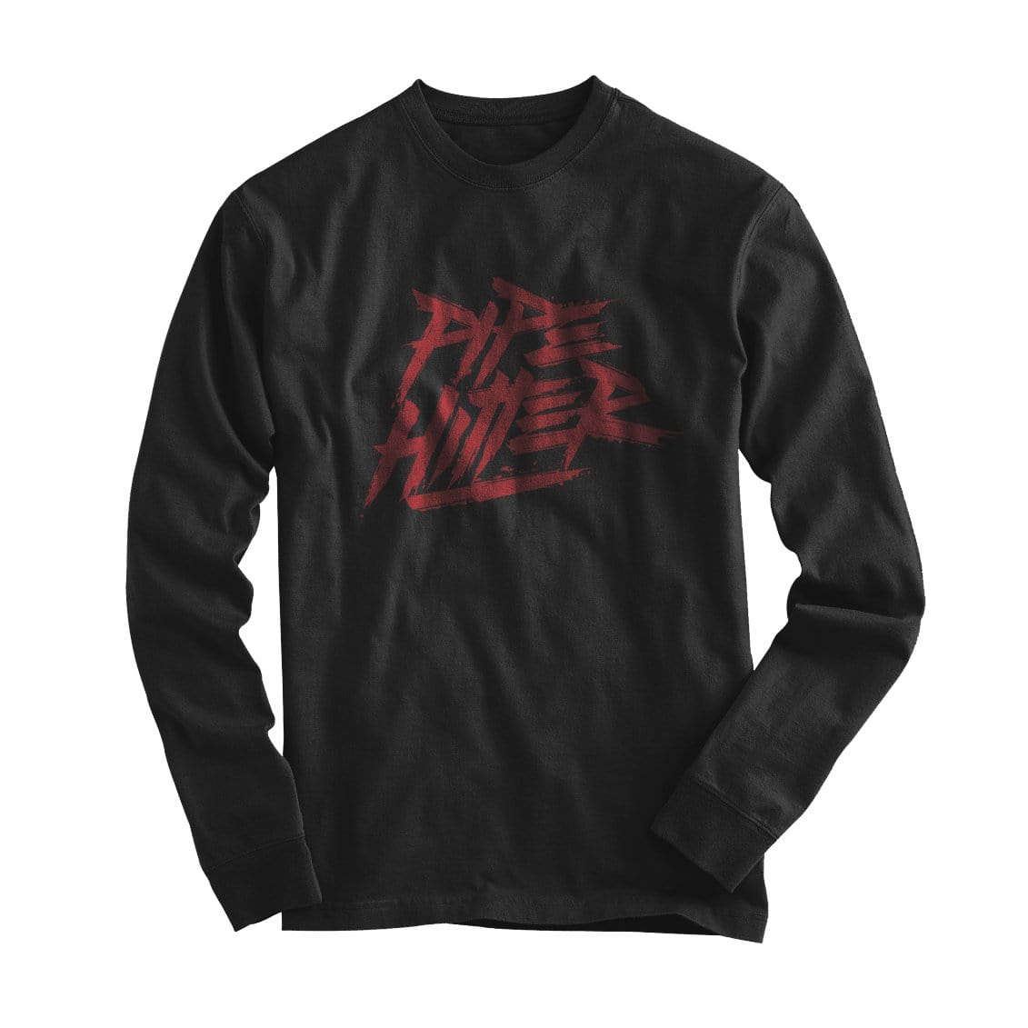 Pipe Hitter - Long Sleeve - Black/Red - T-Shirts - Pipe Hitters Union