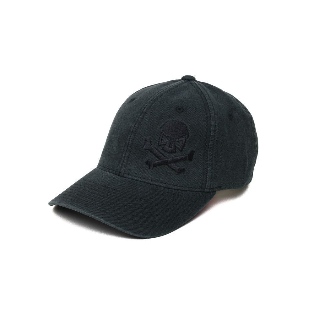 Skull & Cross Bones - Black/Black - Hats - Pipe Hitters Union