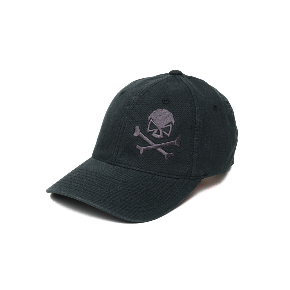 Skull & Cross Bones - Black/Gray - Hats - Pipe Hitters Union