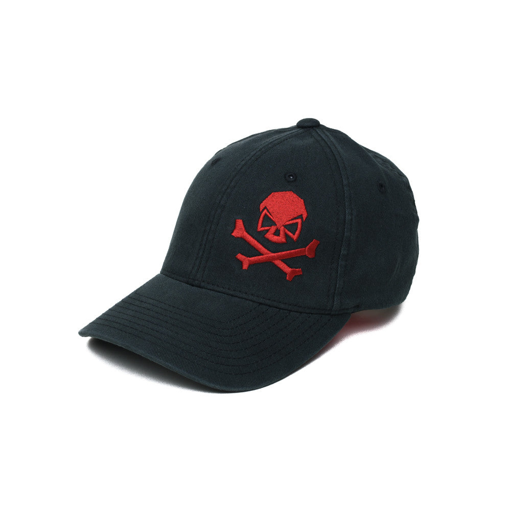 Skull & Cross Bones - Black/Red - Hats - Pipe Hitters Union