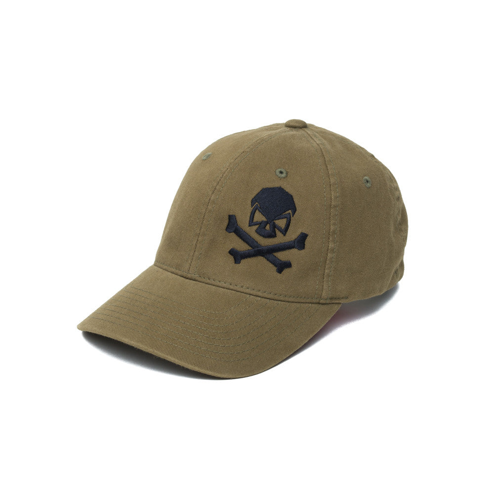 Skull & Cross Bones - Olive - Hats - Pipe Hitters Union