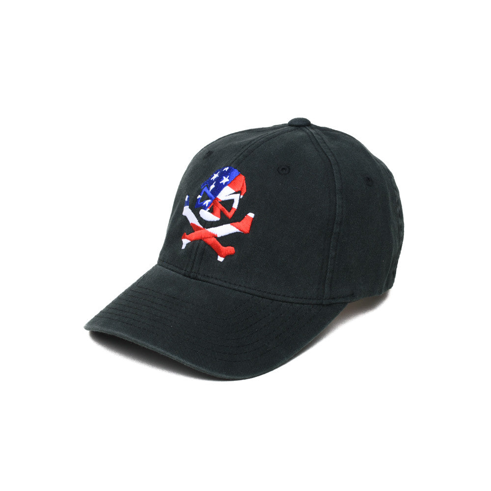 Skull Flag - Black - Hats - Pipe Hitters Union
