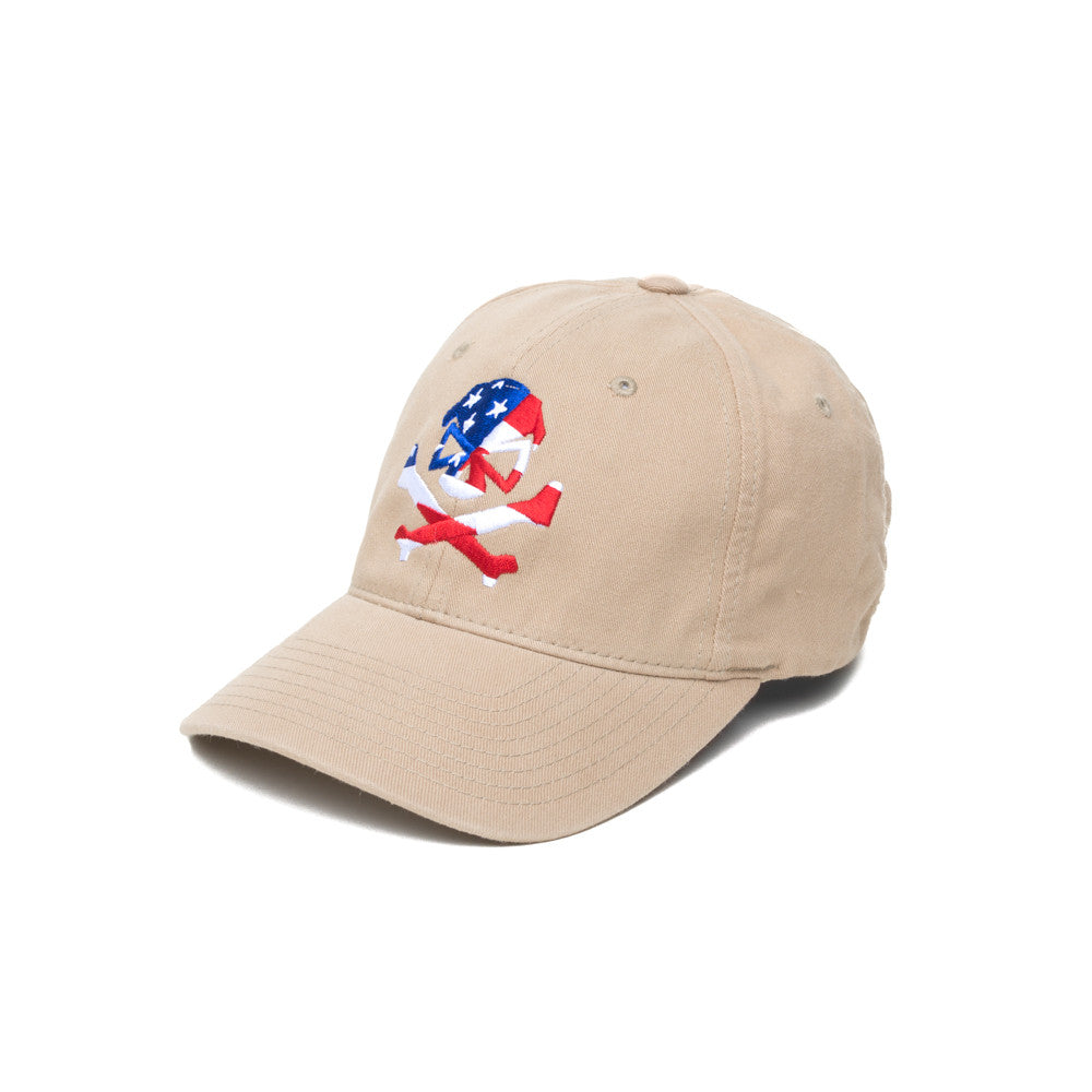 Skull Flag - Khaki - Hats - Pipe Hitters Union