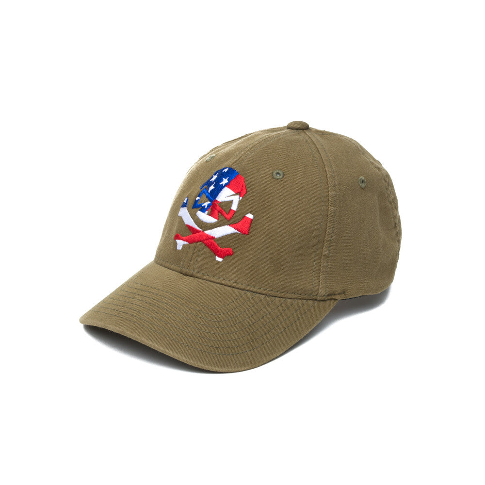 Skull Flag - Olive - Hats - Pipe Hitters Union