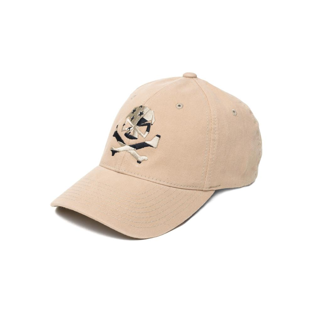 Skull Flag (Subdued) - Khaki - Hats - Pipe Hitters Union