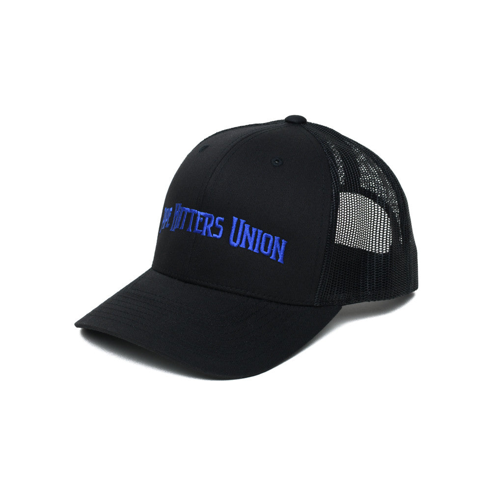 Pipe Hitters Union Trucker - Black/Blue - Hats - Pipe Hitters Union