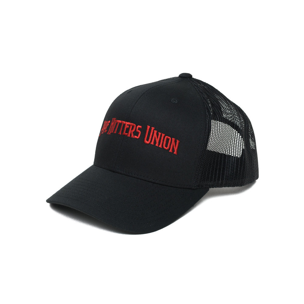 Pipe Hitters Union Trucker - Black/Red - Hats - Pipe Hitters Union