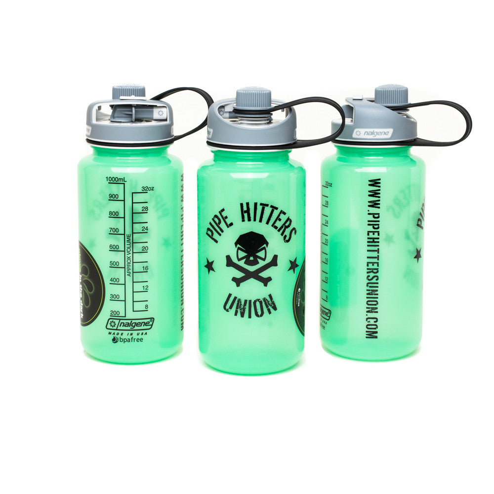Nalgene Bottle w/ PHU Shield 32oz Multidrink - Glow in the Dark - Nalgene - Pipe Hitters Union