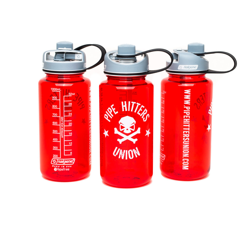 Nalgene Bottle w/ PHU Shield 32oz Multidrink - Red - Nalgene - Pipe Hitters Union