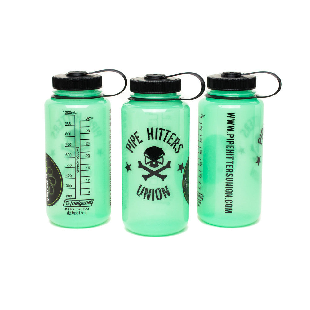Nalgene Bottle w/ PHU Shield - Glow in the Dark - Nalgene - Pipe Hitters Union