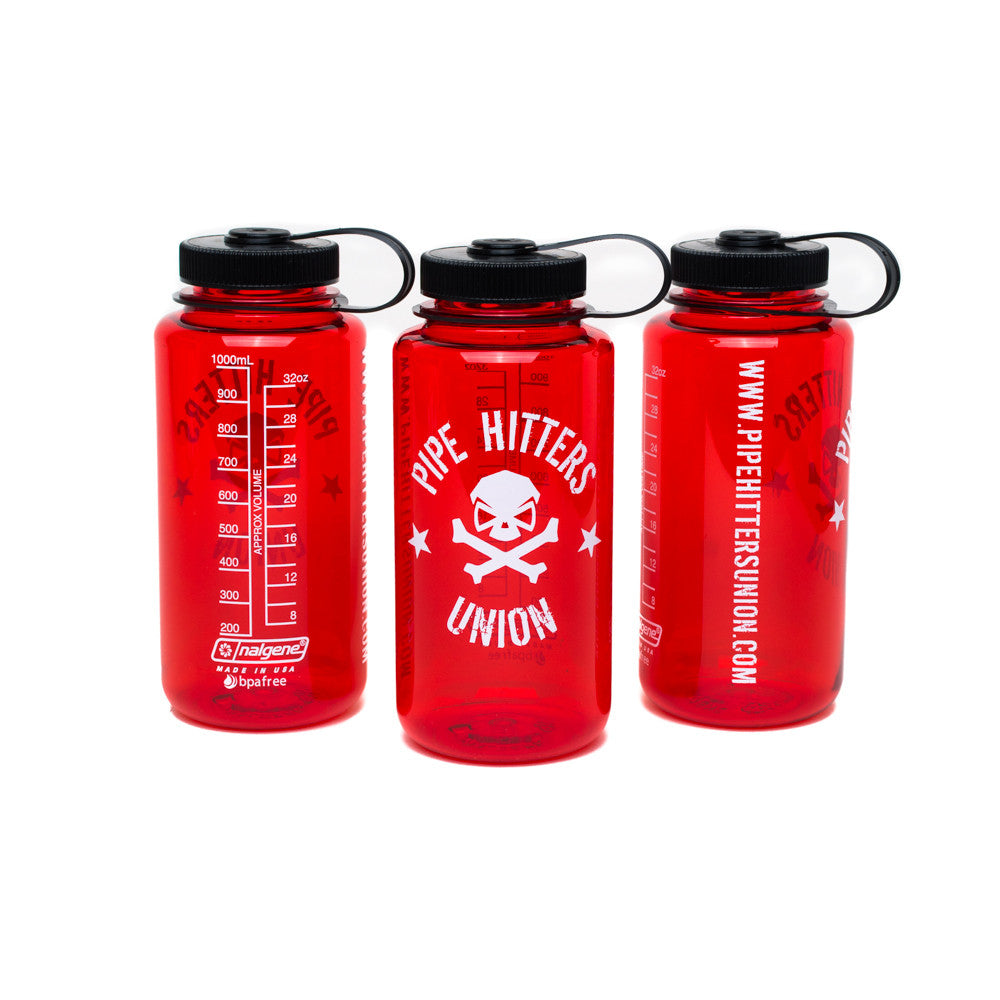 Nalgene Bottle w/ PHU Shield - Red - Nalgene - Pipe Hitters Union