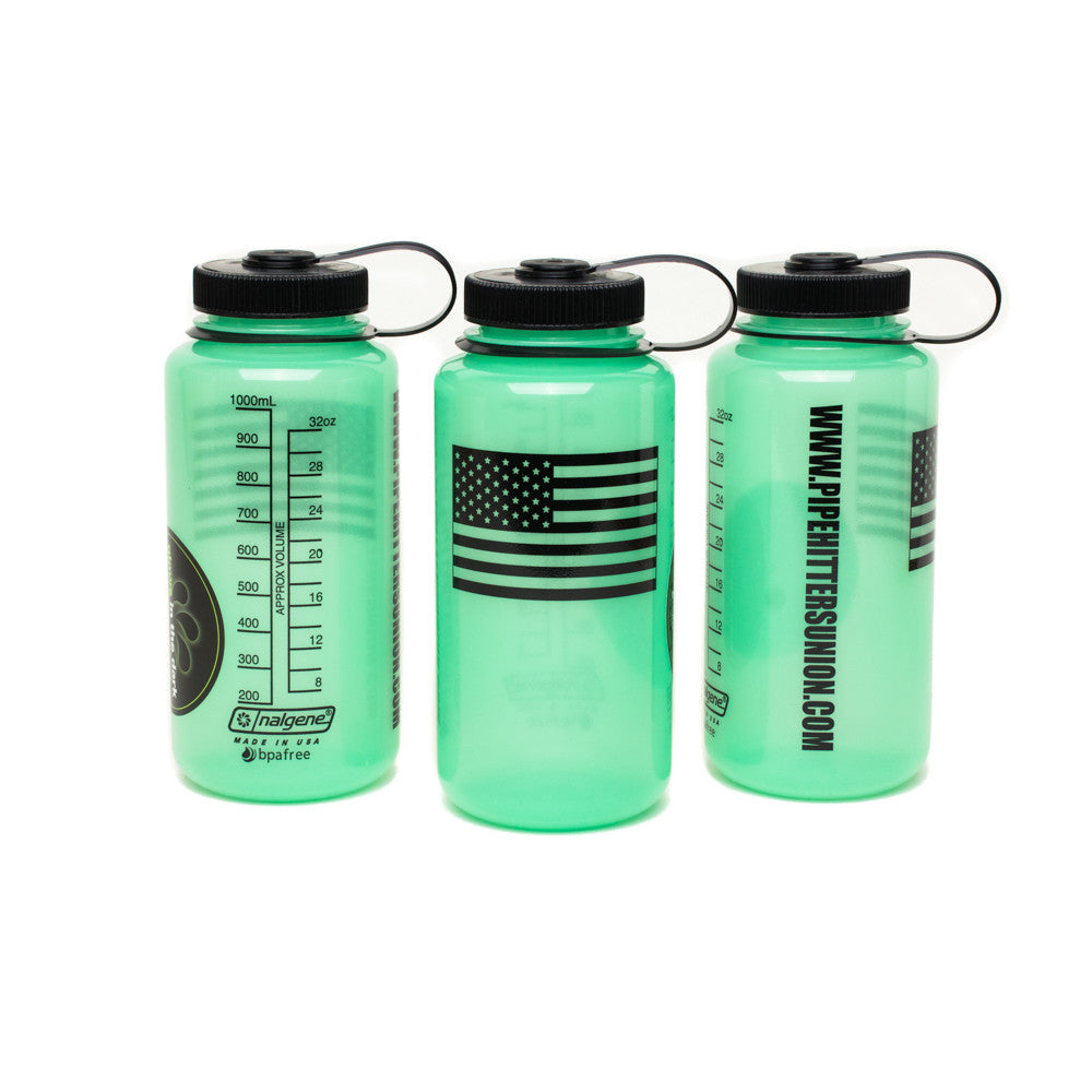 Nalgene Bottle with American Flag - Glow in the Dark - Nalgene - Pipe Hitters Union