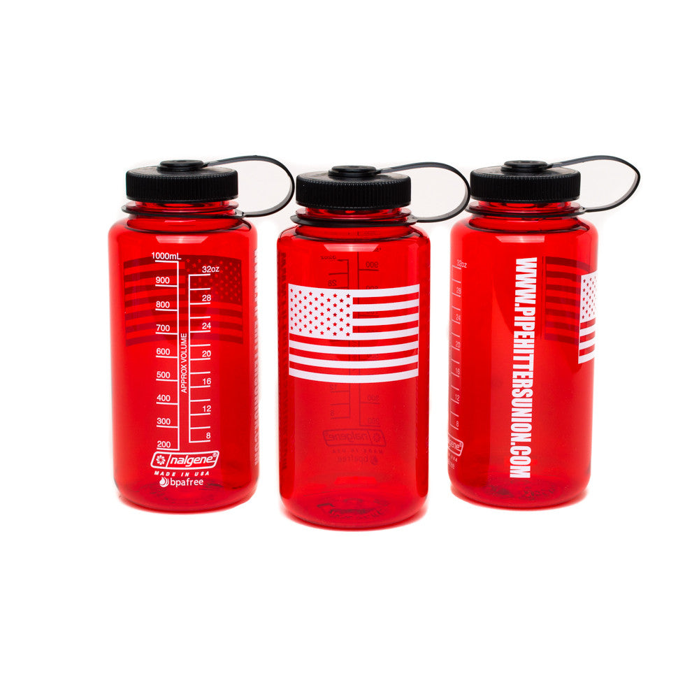 Nalgene Bottle with American Flag - Red - Nalgene - Pipe Hitters Union