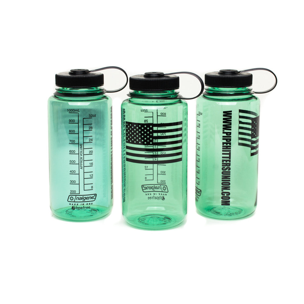 Nalgene Bottle with American Flag - Sage - Nalgene - Pipe Hitters Union