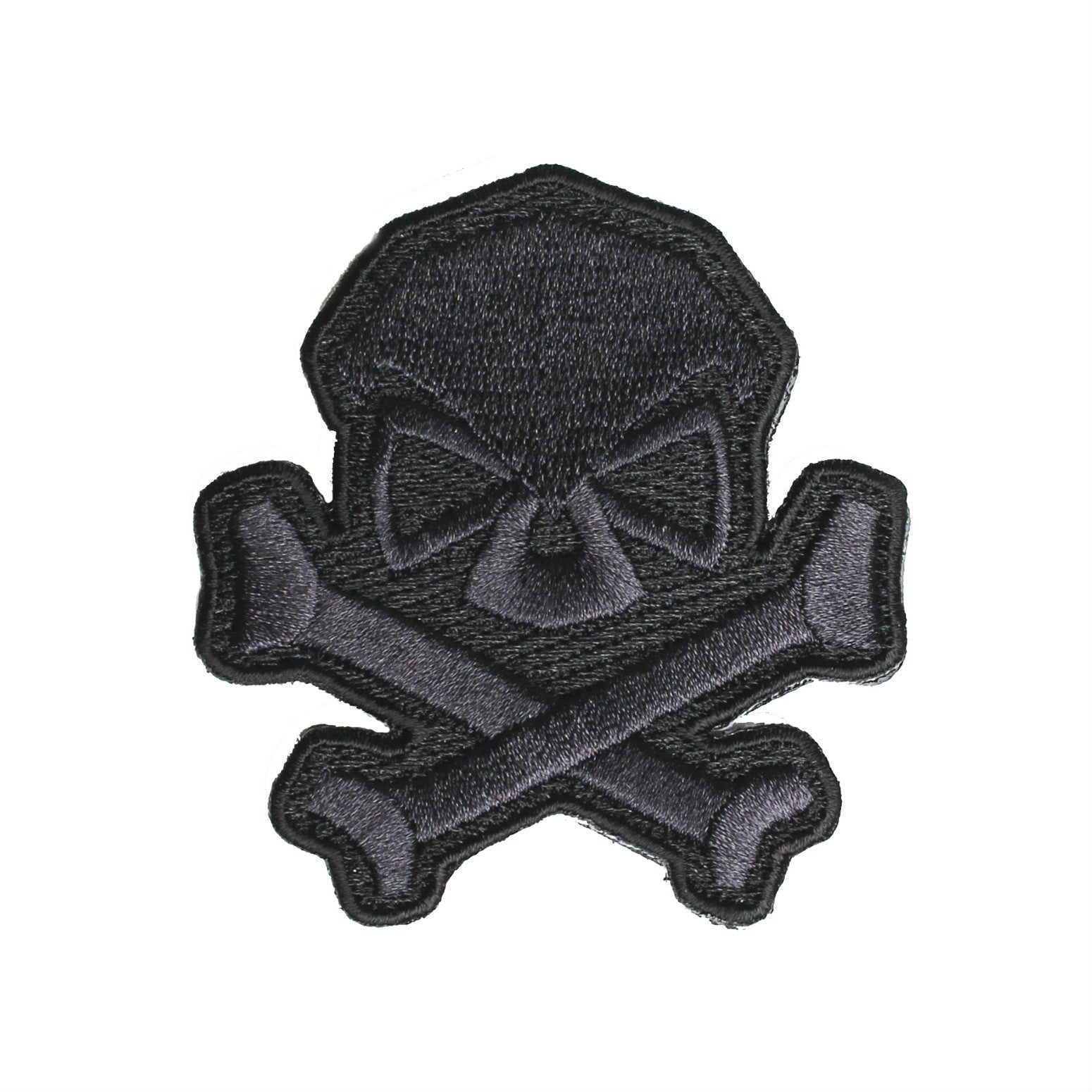 Skull & Bones Patch - Black - Patches - Pipe Hitters Union