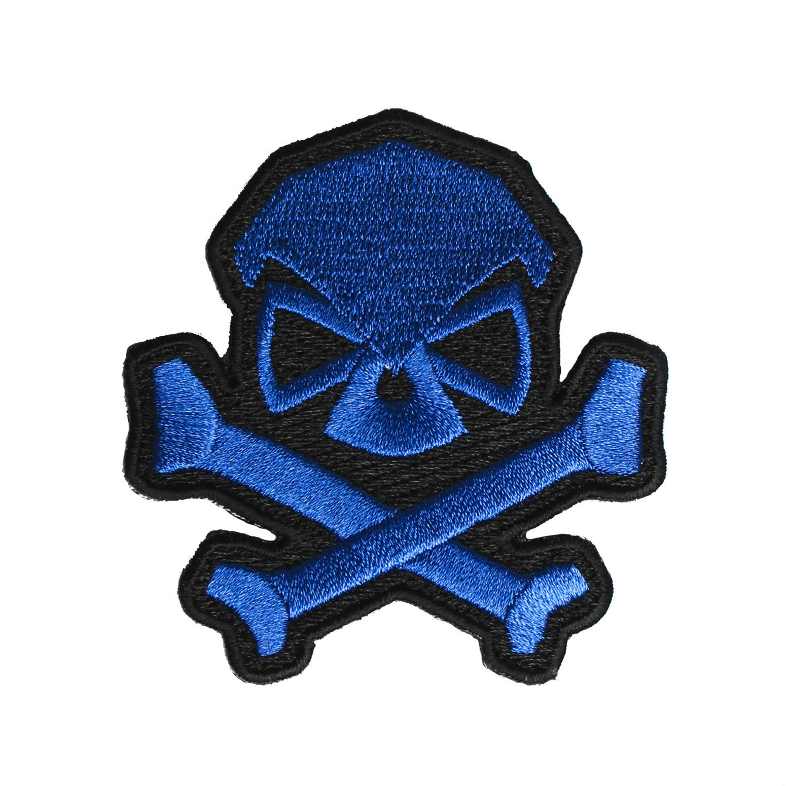 Skull & Bones Patch - Blue - Patches - Pipe Hitters Union