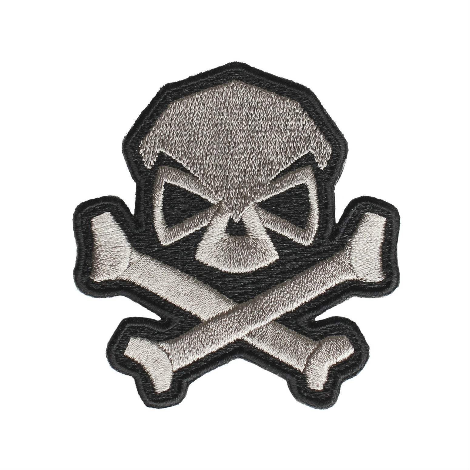 Skull & Bones Patch - Grey - Patches - Pipe Hitters Union