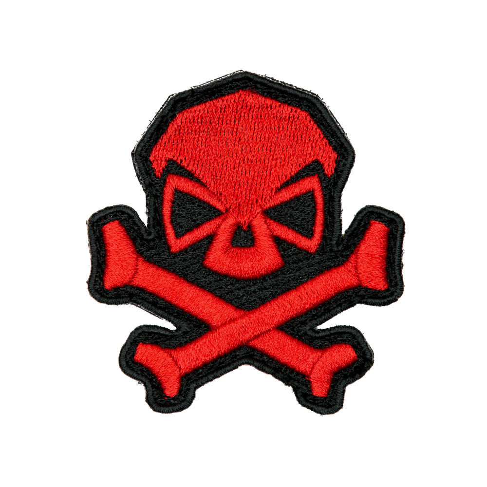 Skull & Bones Patch - Red - Patches - Pipe Hitters Union