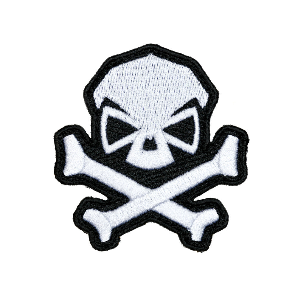 Skull & Bones Patch - White - Patches - Pipe Hitters Union