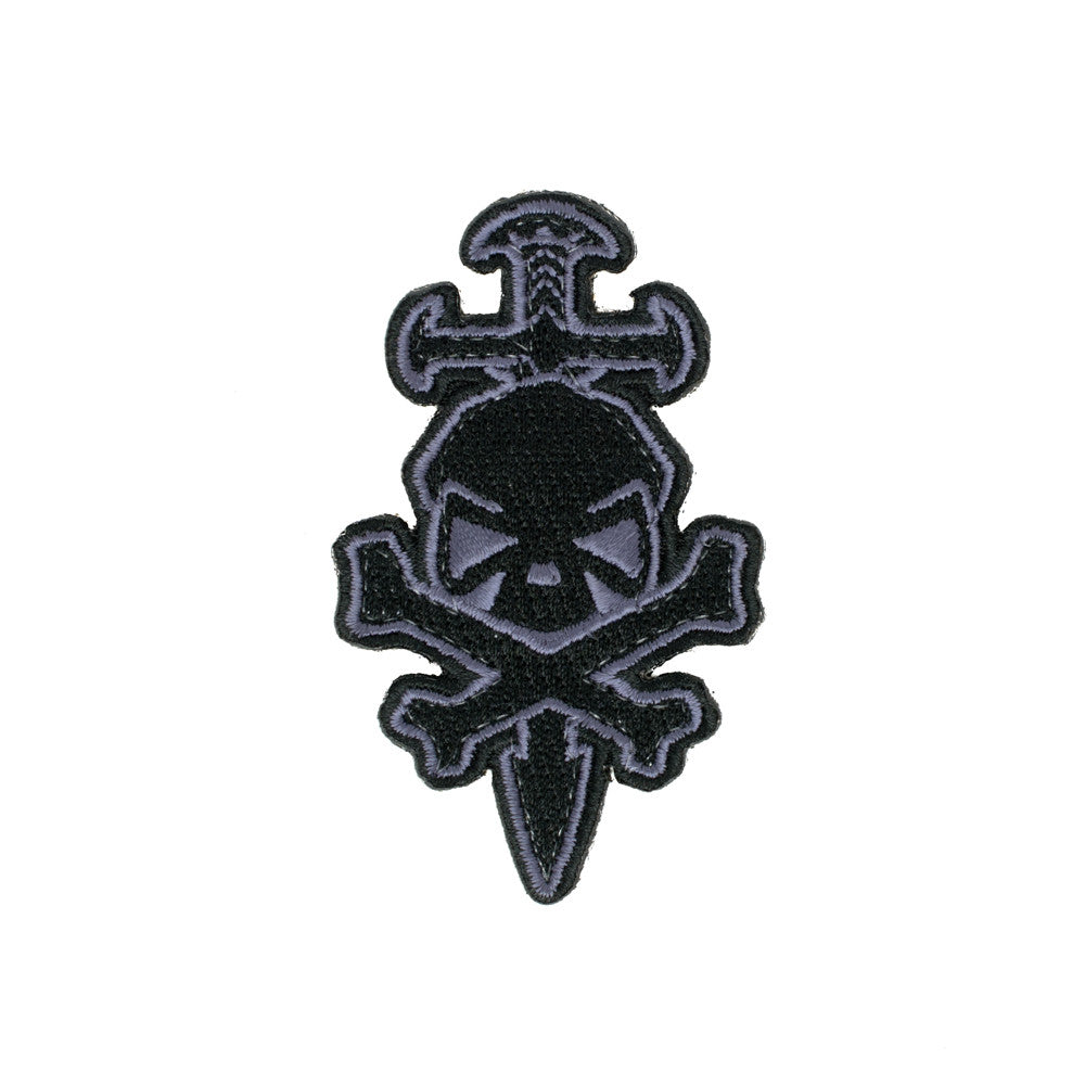 PHU Skull & Sword Patch - Grey - Patches - Pipe Hitters Union