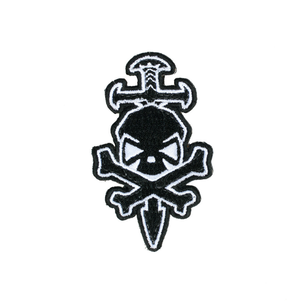 PHU Skull & Sword Patch - White - Patches - Pipe Hitters Union