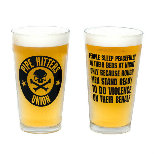 People Sleep Peacefully Pint Glass - Pipe Hitters Union