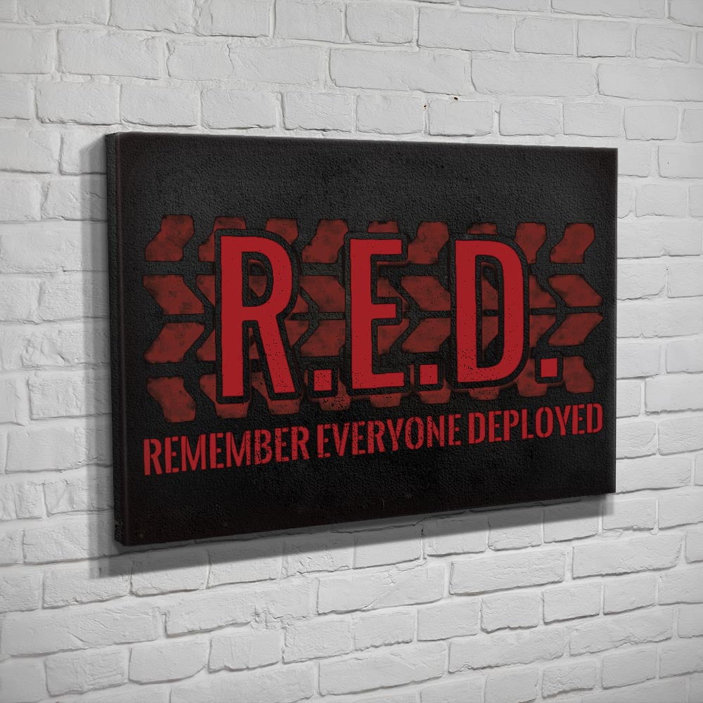 Remember Everyone Deployed - Canvas - Black - Canvas - Pipe Hitters Union
